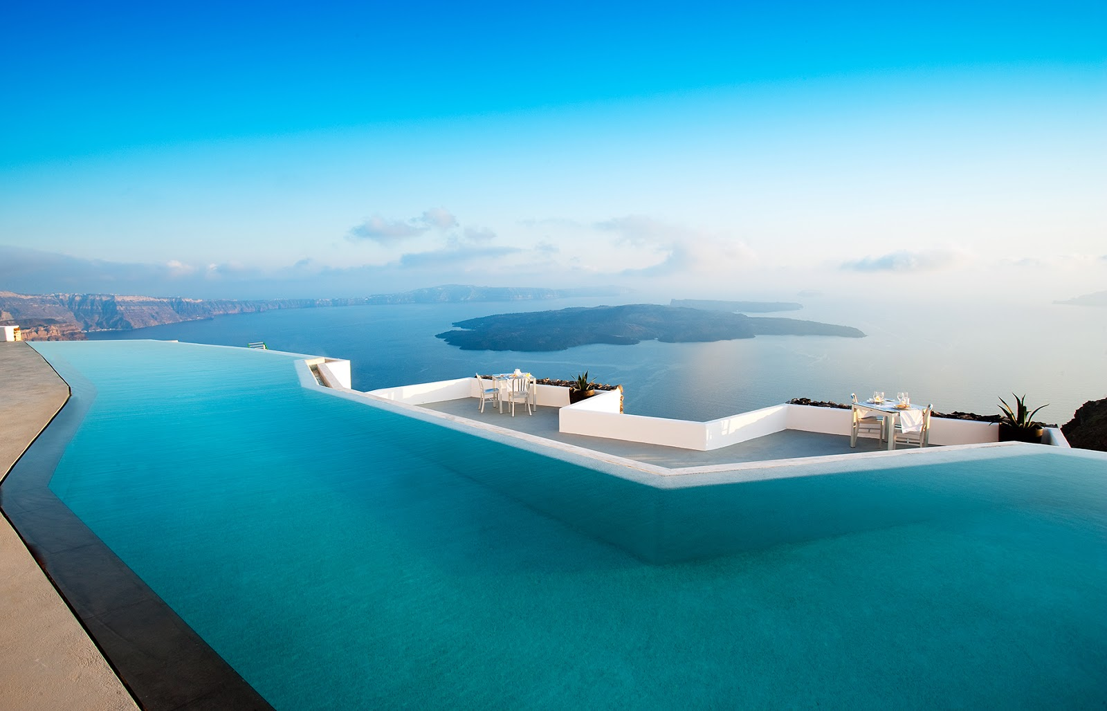 Passion for luxury the 20 most beautiful pools in the world in 2015 - Santorini infinity pool ...