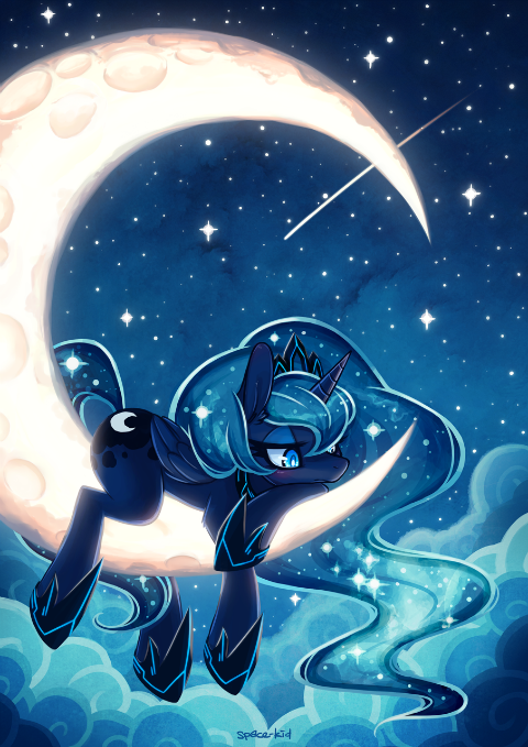 Because of her association with night, Luna is my favorite pony.