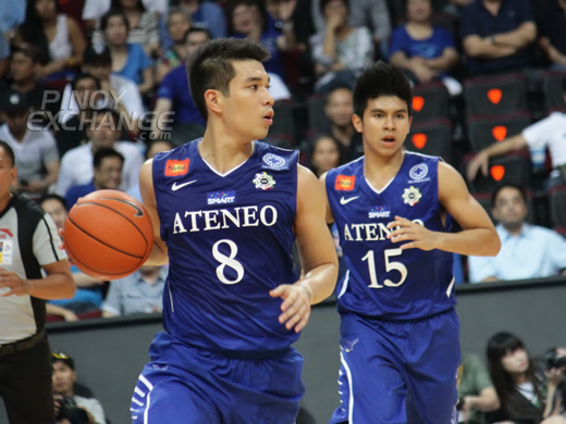 Nico Salva and Keifer Ravena, Ateneo Blue Eagles