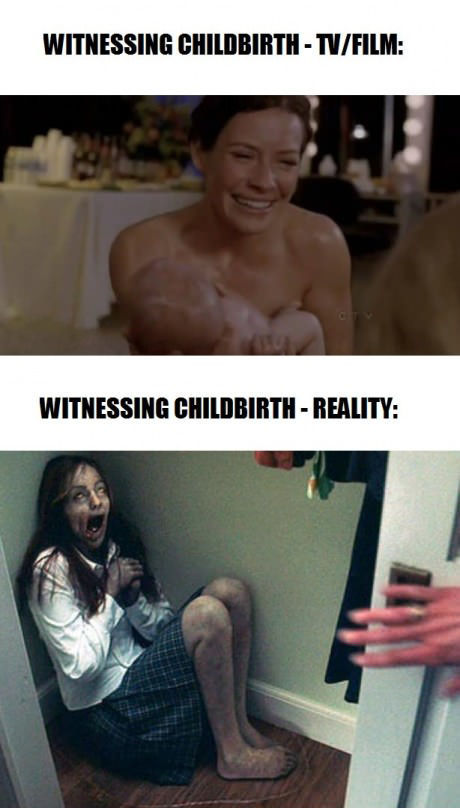 Difference In A Childbirth In Movies And In Reality!