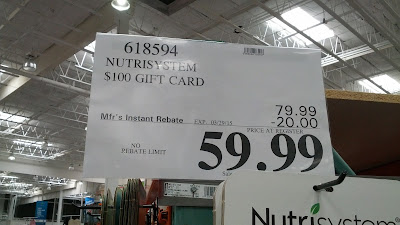 Deal for $100 Nutrisystem gift card for $59.99 at Costco