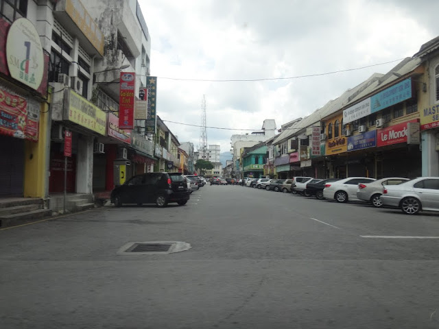 The Old Town with rows of historical shops in  Ipoh, Perak, Malaysia