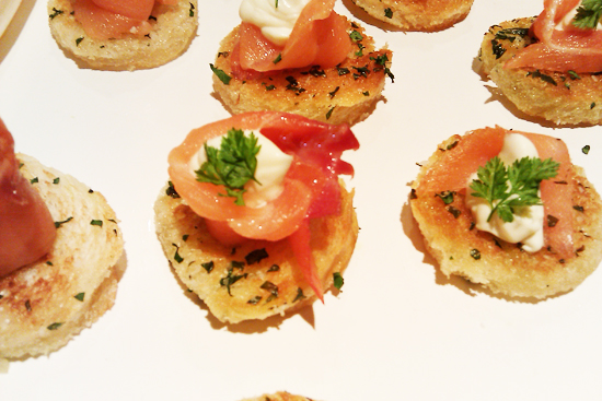 Goat Cheese And Black Pepper Biscuits With Smoked Salmon And Dill ...