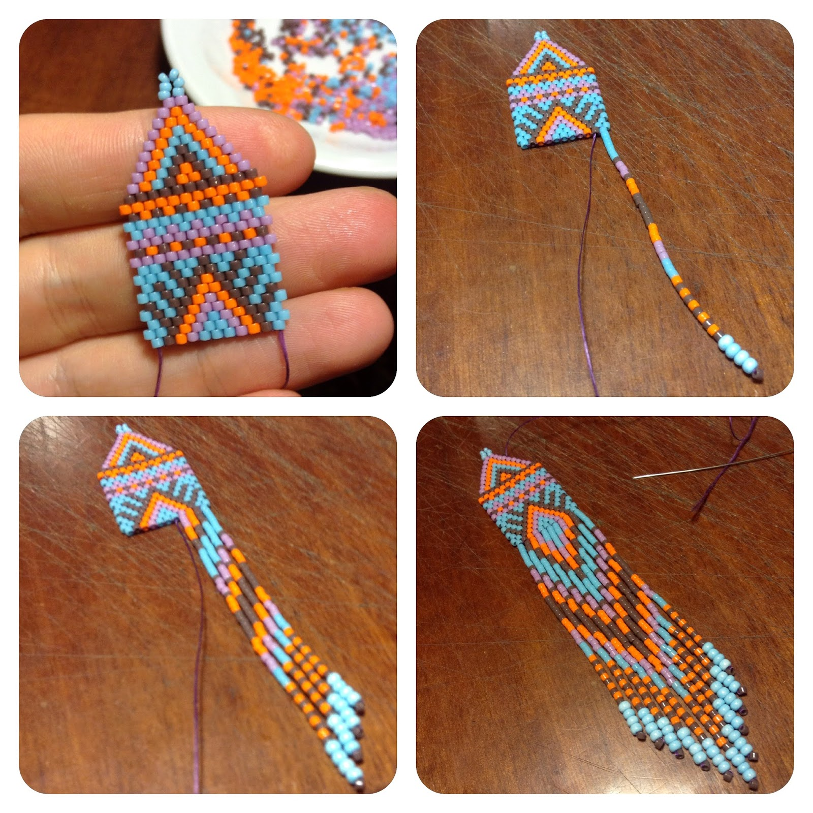 серьги из бисера мозаичное плетение мозаика бисероплетение анабель
