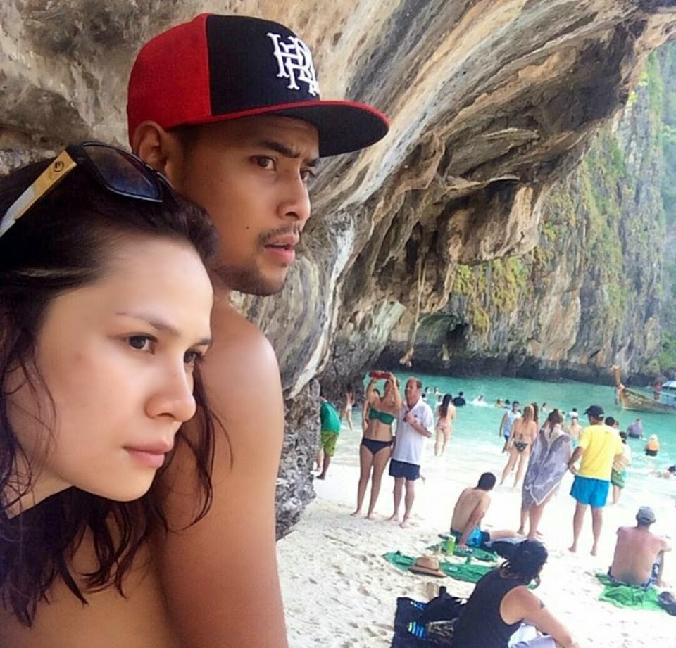 Hot 5 Gambar Aidil dan Zarema HONEYMOON di Thailand