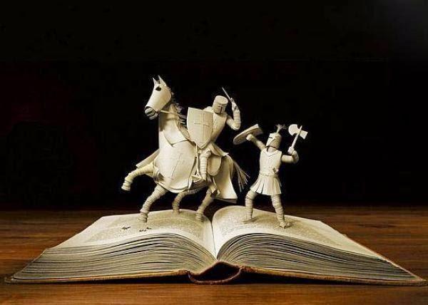 Livros, Personagem, Escultura com Livros, Escritores, Nobel