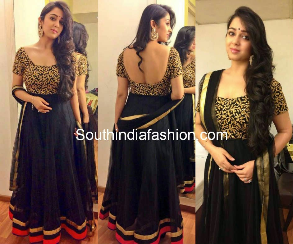 charmee black anarkali