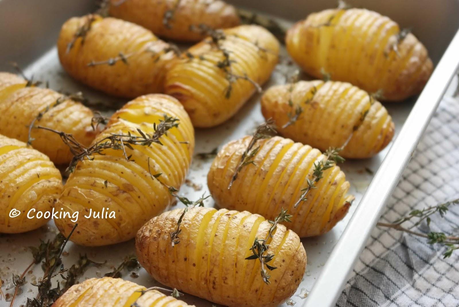 cooking julia pommes de terre hasselback. Black Bedroom Furniture Sets. Home Design Ideas