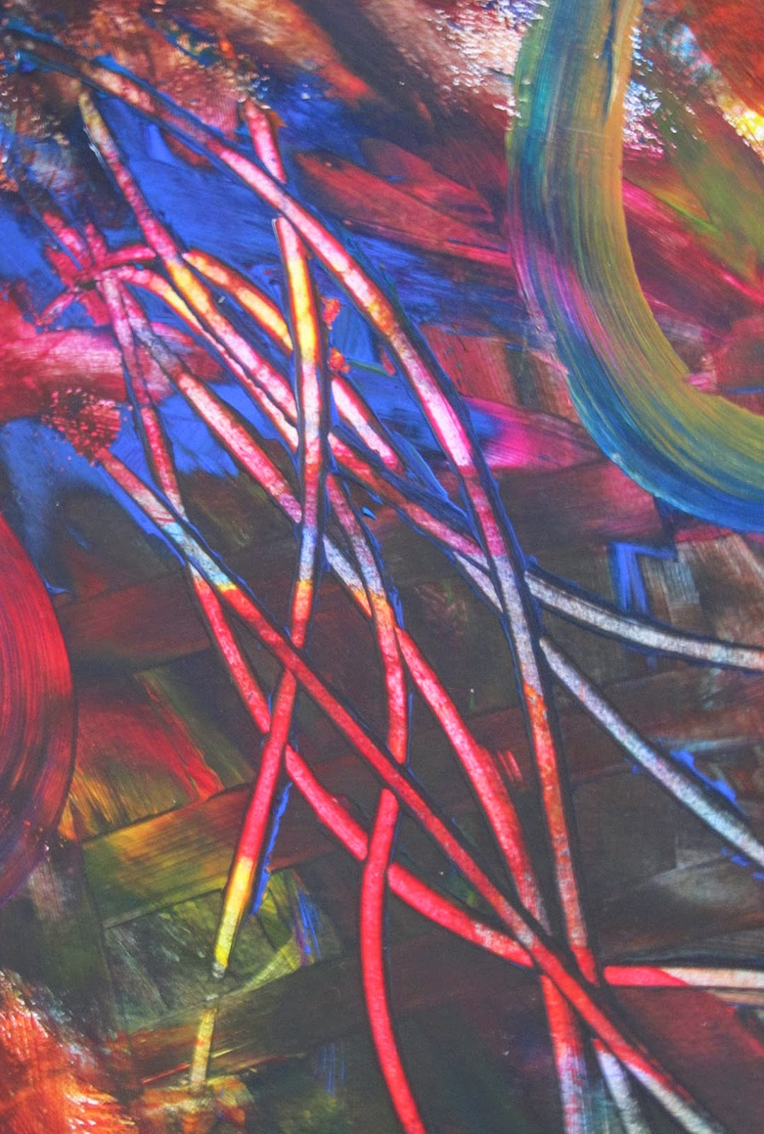 scratches through paint