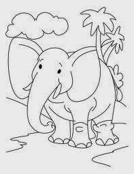 mewarnai gambar gajah untuk anak 15