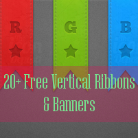 20+ Free Vertical Ribbon Icons And PSDs