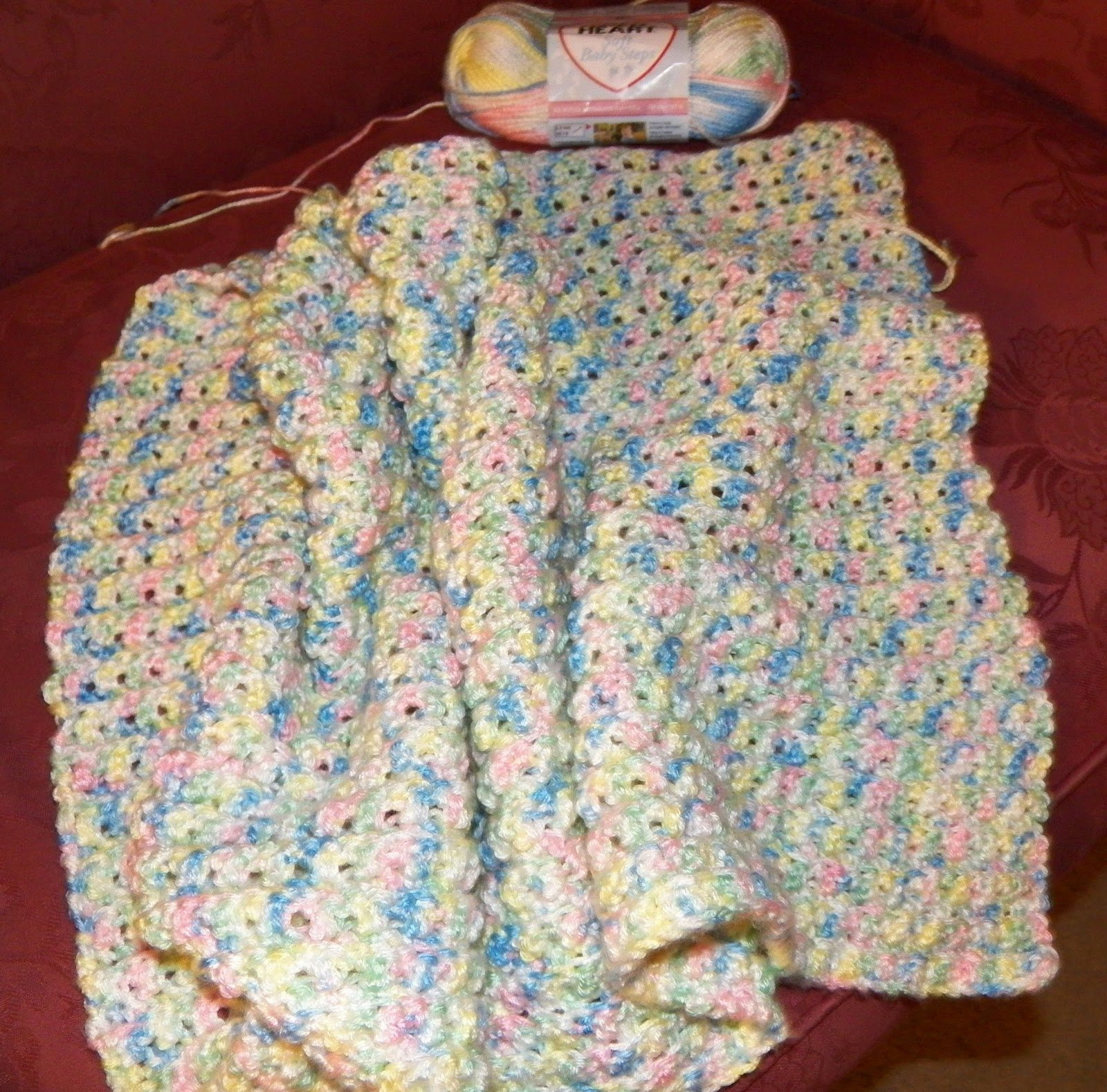 Crochet Baby Blanket Patterns Variegated Yarn : Crochet Attic: Baby Blanket in Progress...