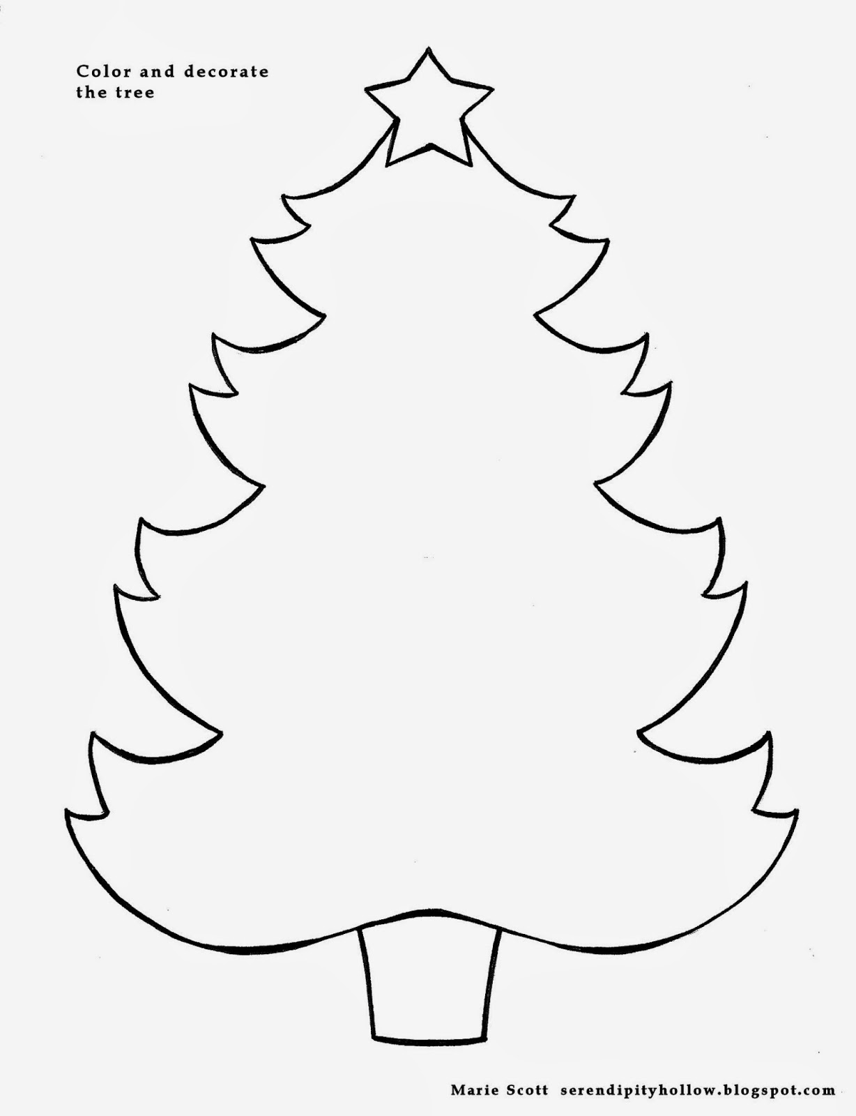 Serendipity Hollow: O Christmas Tree! (to decorate and color)