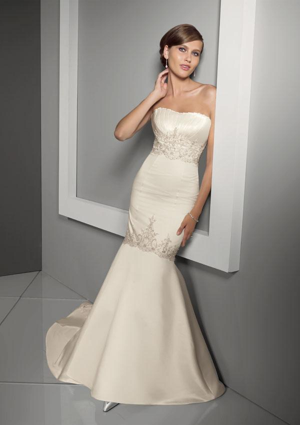elegant evening dress: Beautiful mermaid cut wedding dresses