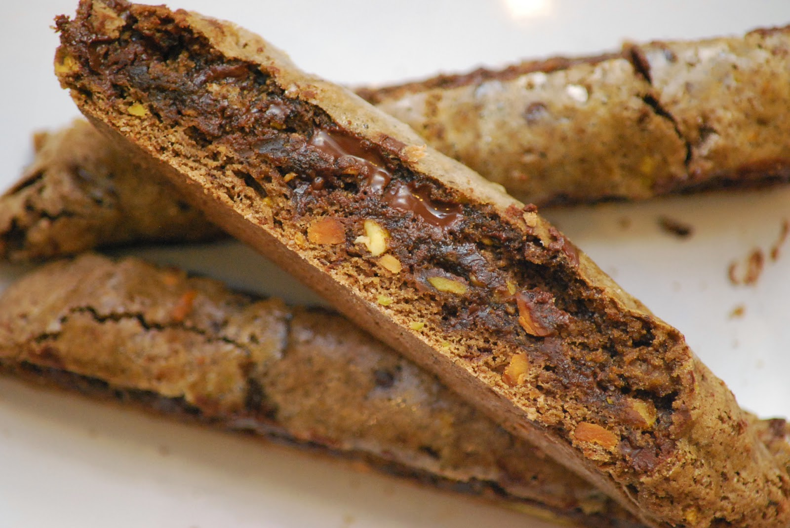 chocolate biscotti cranberry and pistachio biscotti dipped in white ...
