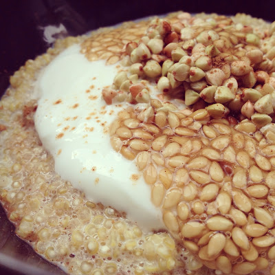 porridge de quinoa sarrasin lin