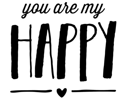 you are my happy stamp set