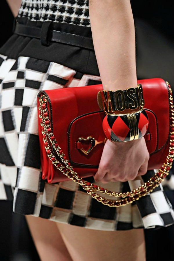 bag moschino red 2013