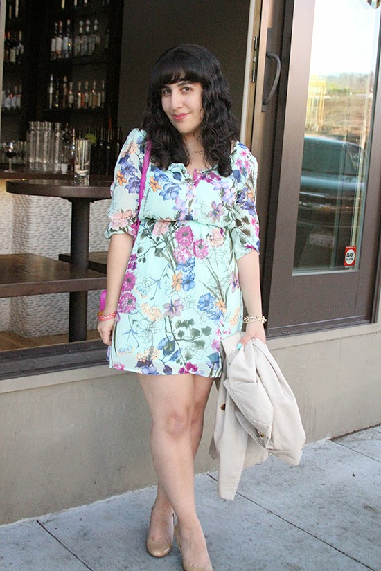 Pinkblush Spring Mint Floral Print Dress