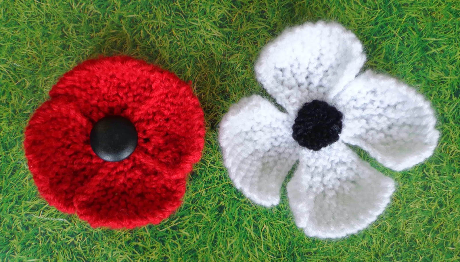 Easy Afghan Knitting Patterns Free : Hippystitch: Poppies in the Park Knitting Patterns