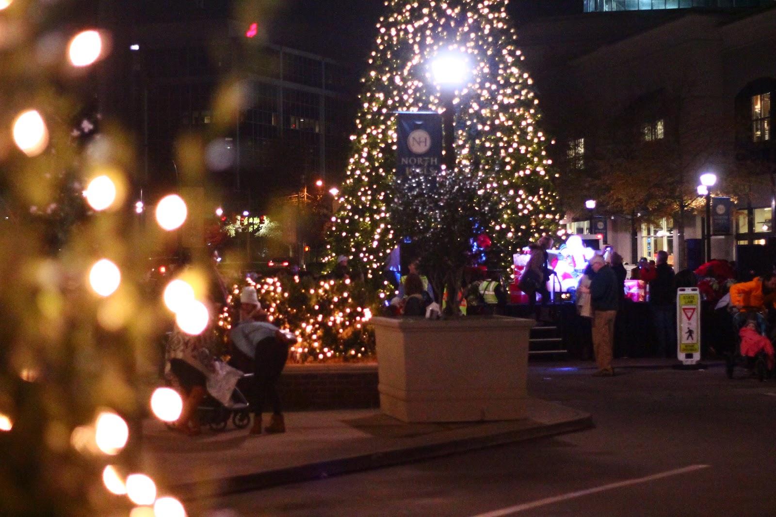 Christmas Tree Lighting: North Hills Raleigh
