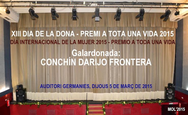 CONCHÍN DARIJO FRONTERA, PREMI A LA DONA 2015