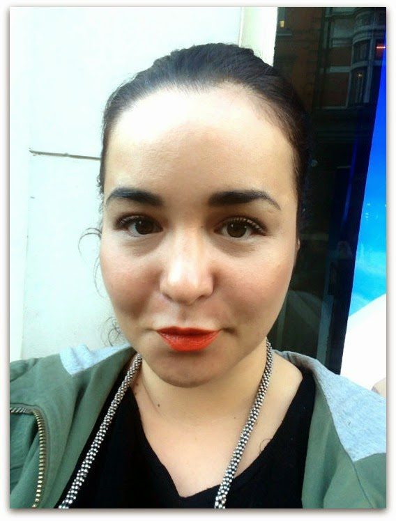 NARS Audacious Lipstick in Geraldine Face Swatch