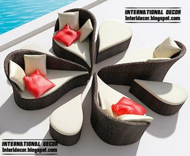 Attractive Modern Outdoor Furniture Set, Outdoor Wicker Rattan Furniture