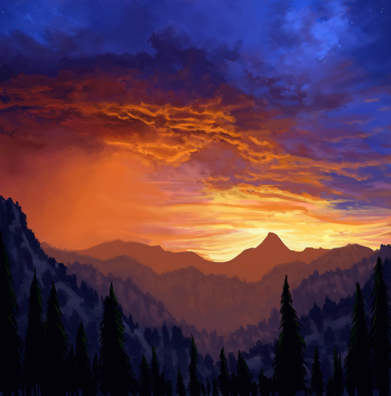 Doin' Work .: Sunset Storm