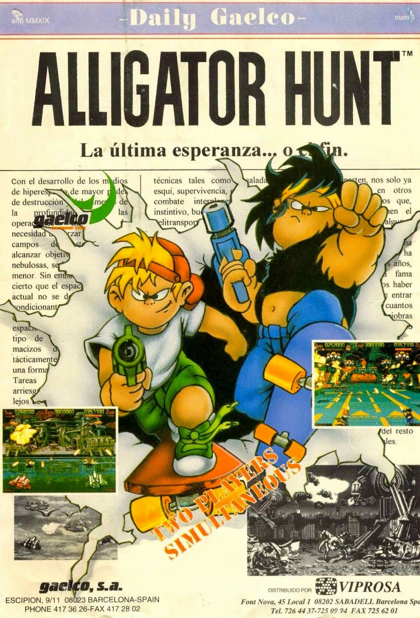 Alligator Hunt arcade game flyer