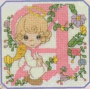 Professione donna schemi per il punto croce l 39 alfabeto for Angioletti punto croce per bambini