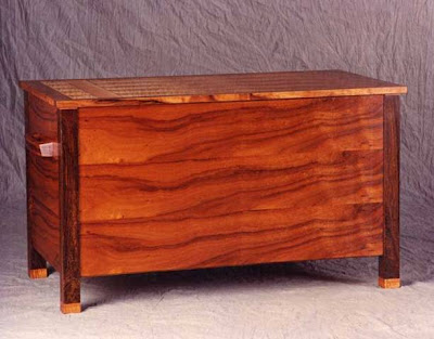 Flat Top Chest, Wood Furniture by Alan Wilkinson