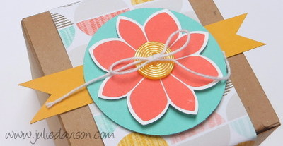 Stampin' Up! Petal Potpourri Gift Box: Occasions Catalog Sneak Peek #stampinup www.juliedavison.com