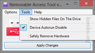 Disable USB Autorun - Safely remove Hardware