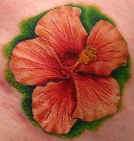 Hawaiian Flower Tattoo