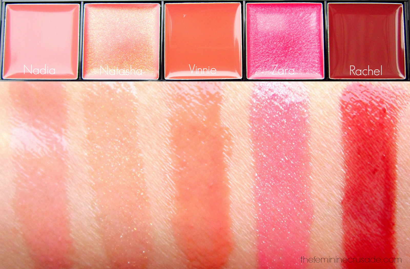 Luscious Ather Shahzad Master Lip Gloss Palette (swatches)