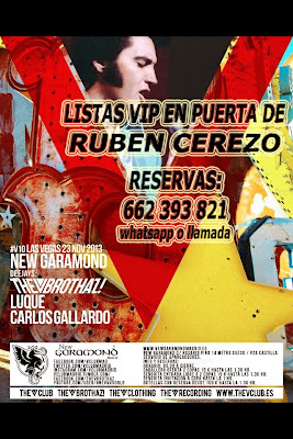 "NEW GARAMOND SÁBADO, 23 DE NOVIEMBRE: ""V"" LAS VEGAS - LUQUE & CARLOS GALLARDO"