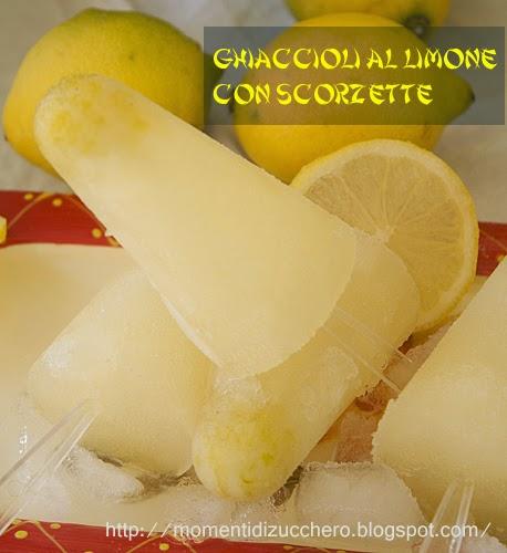 ghiaccioli al limone con polpa e scorzette