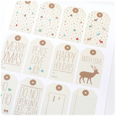 Etiquetas regalos Navidad lovevsdesign