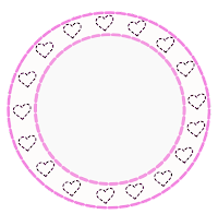 Plaquinha cute pink coração - Criação Blog PNG-Free