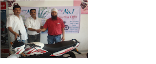 Mr. Baljinder Singh with his bike