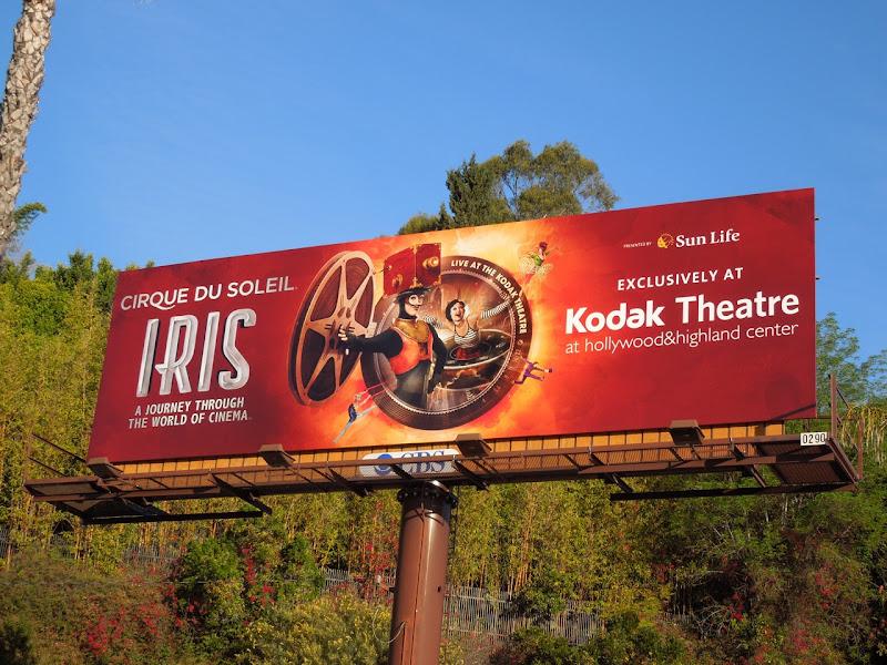 Iris Cirque du Soleil billboard