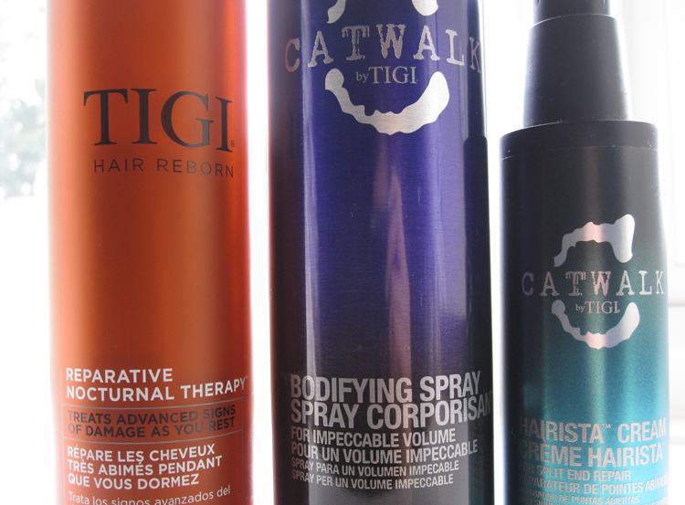 A picture of TIGI Hair Reborn Reparative Nocturnal Therapy, Catwalk by TIGI Bodifying Spray & Hairista Cream review