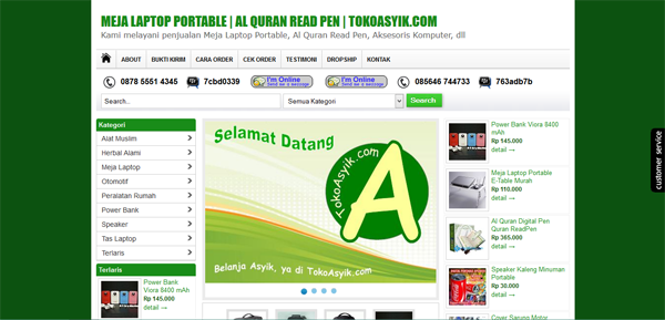 Tokoasyik.com Toko Online Meja Laptop Terpercaya