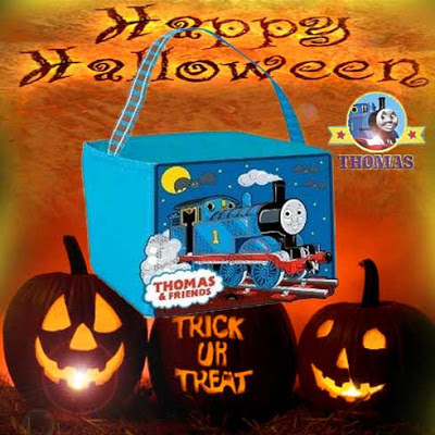 Excellent childrens Bag for Halloween Thomas the tank engine and friends candy cube to hold sweeties