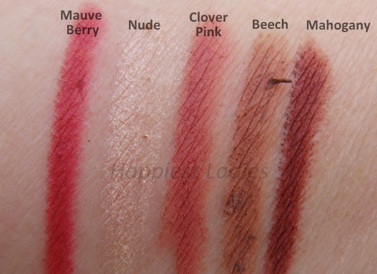 The Body Shop lip-liner shades
