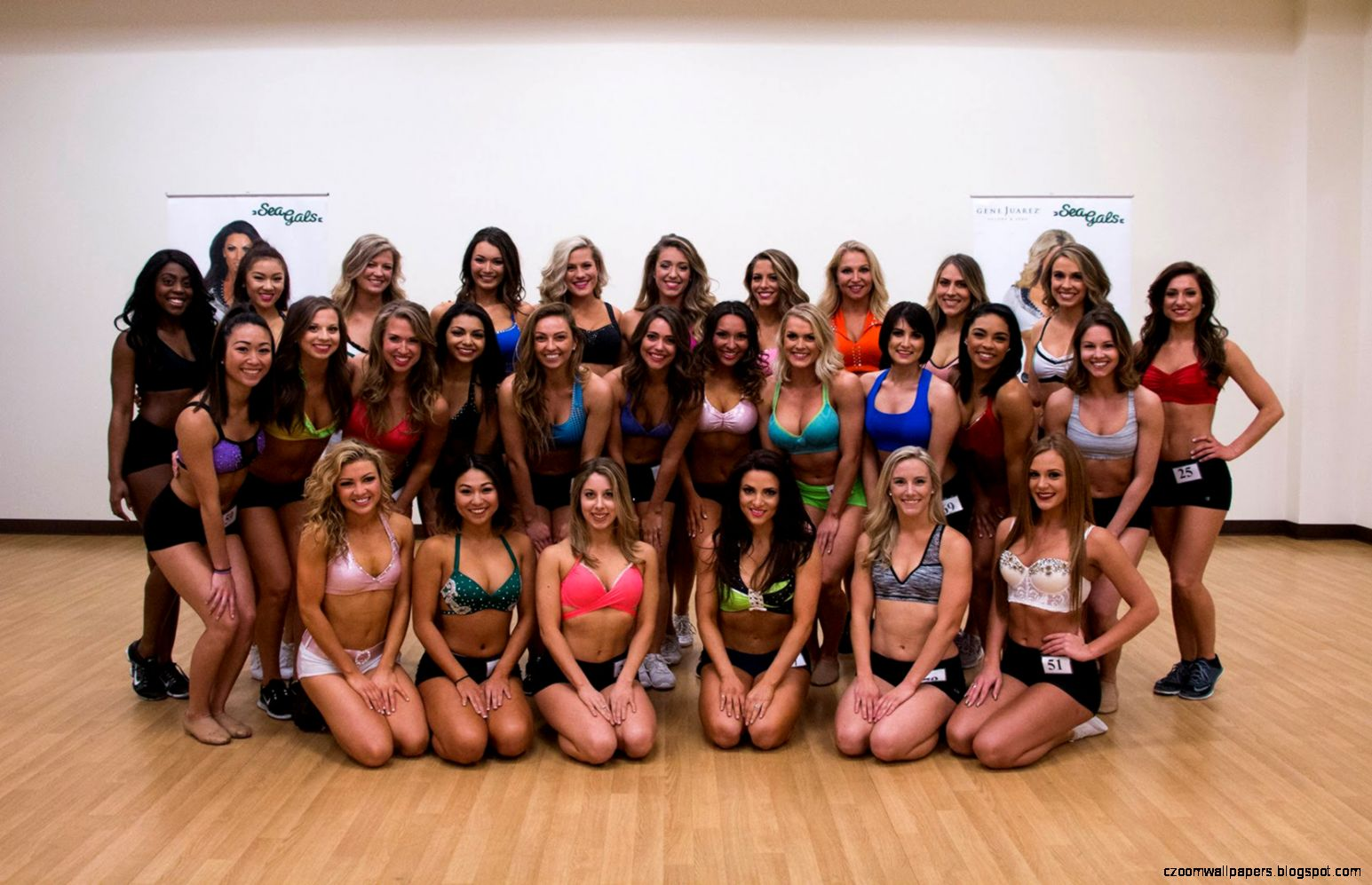 Seattle Seahawks Cheerleaders Semi Finals Auditions  Sea Gals