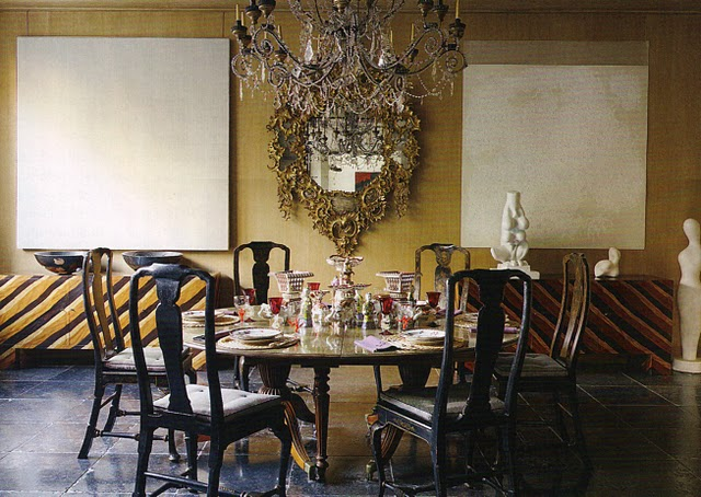 Gold Dining Room Decor: Color ZenTrend Alert: Black & Gold.