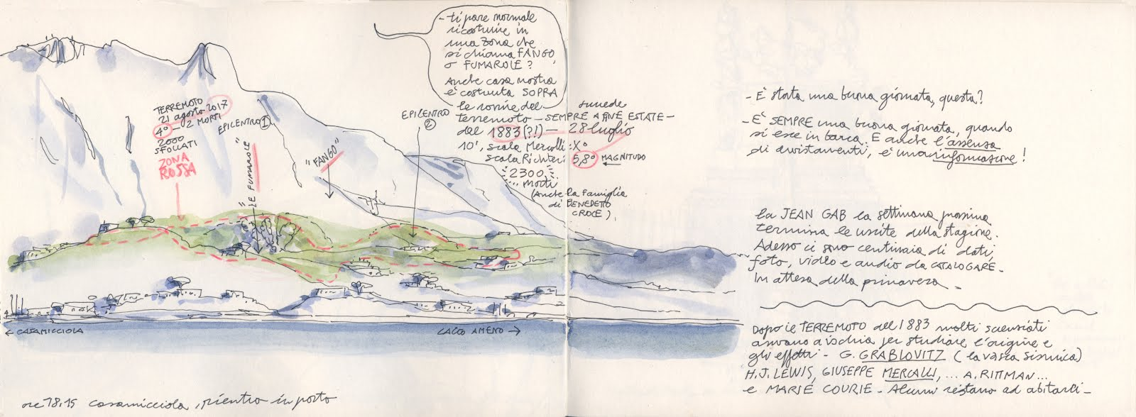 The Ischia Sketcher. Reportage from the island after the earthquake | Urban  Sketchers