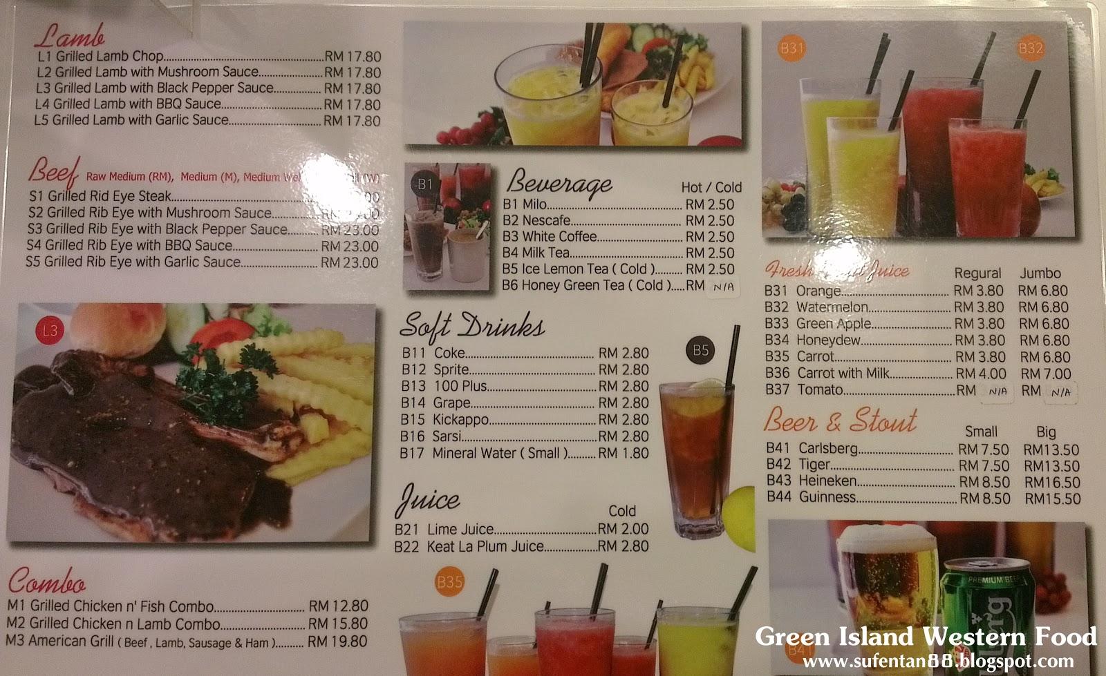Island Penang Cafe Menu